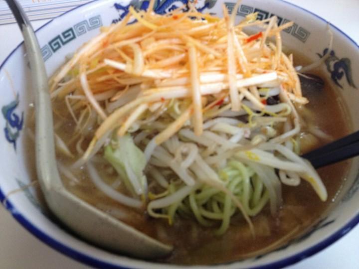 天山のネギ辛味噌らあめん(クロレラ麺の細麺)