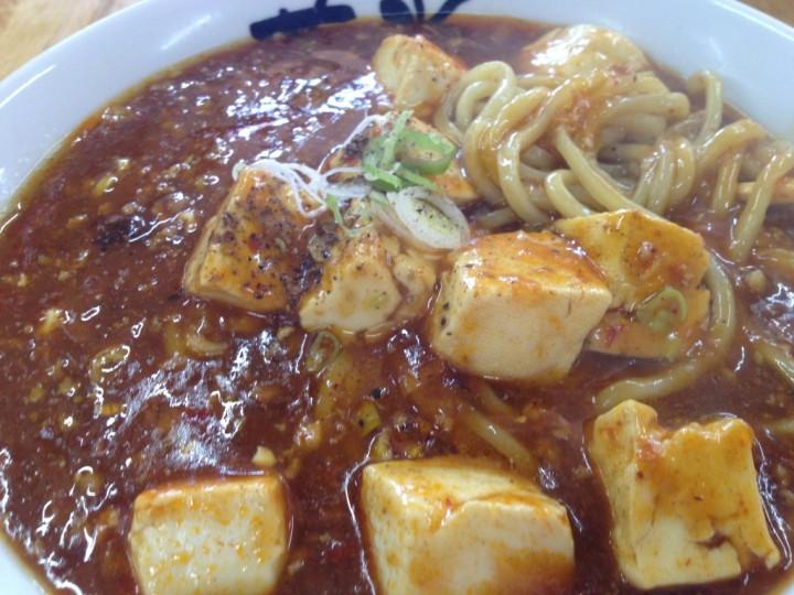 らーめん華炎のマーボー麺(野菜がなく麻婆豆腐がメイン)