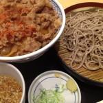 吉野家 牛丼 ざる蕎麦セット