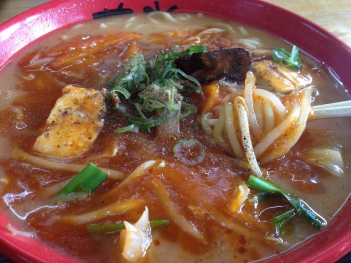 華炎タンメン(味噌スープに激辛麻婆あんかけ)