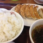 大阪王将 燕三条 餃子とライス490円