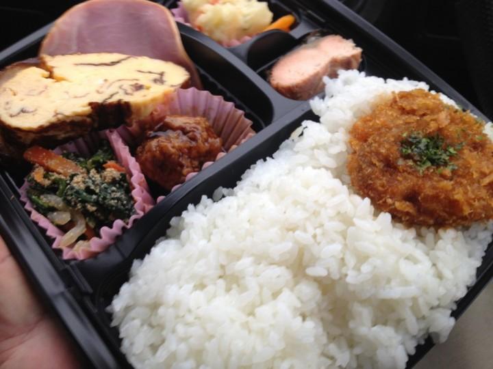 アメヤ精肉店の幕の内弁当(大盛り)