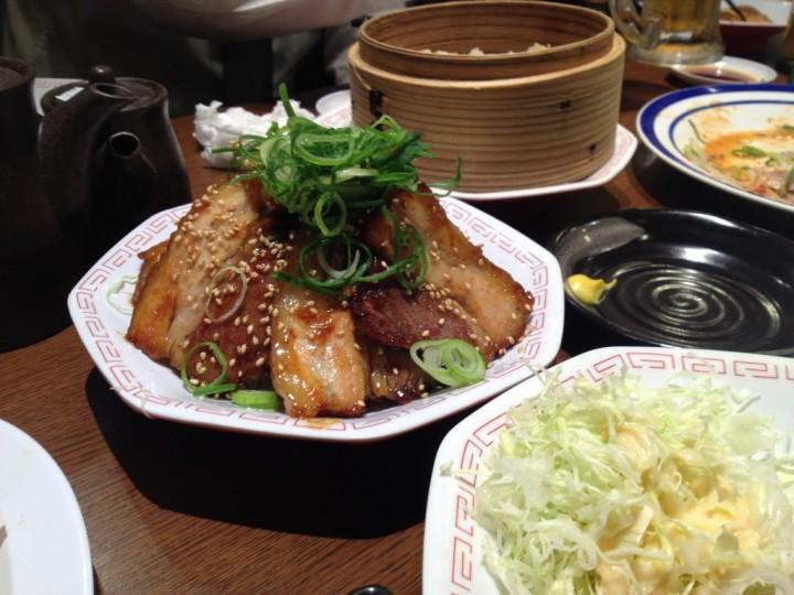 呑み会の料理その2(焼肉ポークなど)