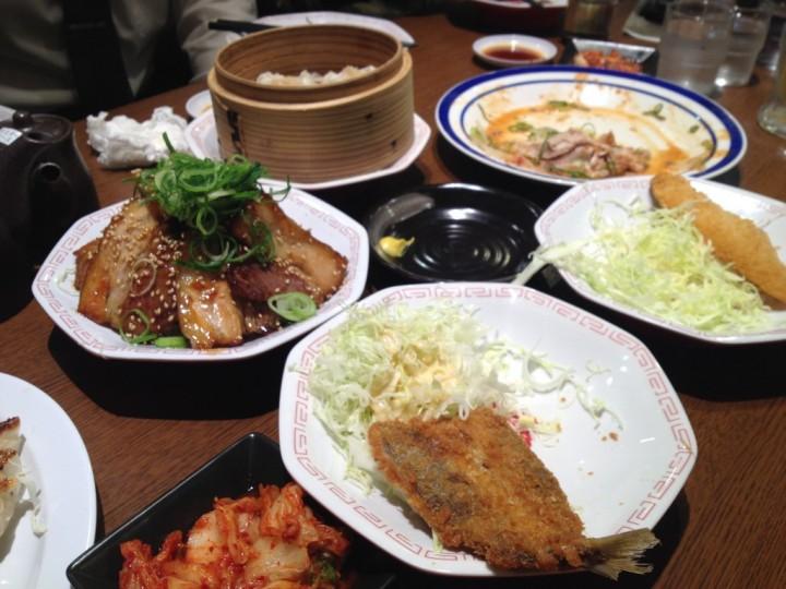 呑み会の料理その1(アジフライなど)