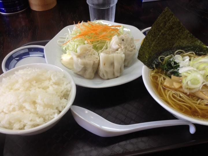 麺食堂丸三のランチセット