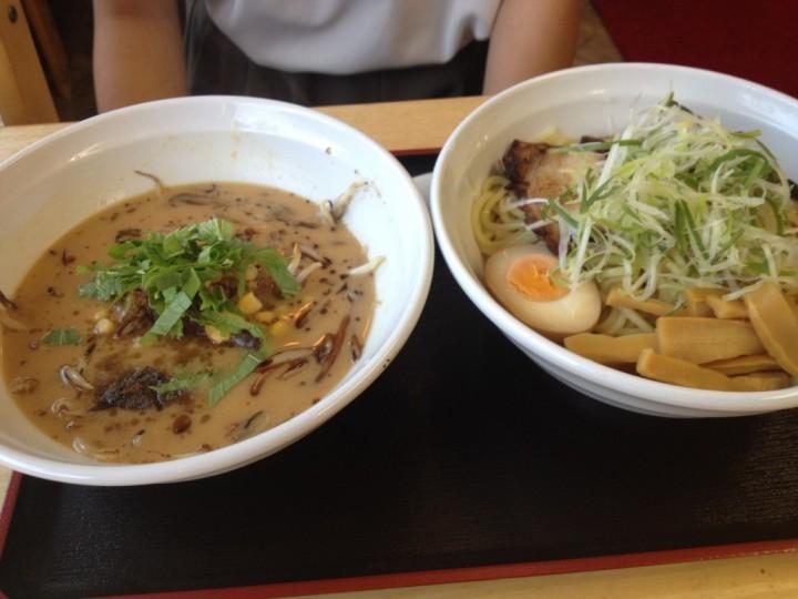 陣丸 つけ麺 味噌味