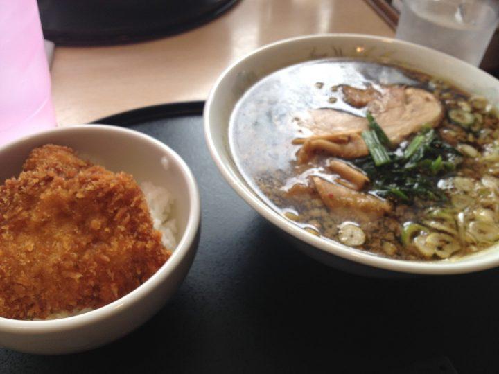 麺屋長衛門のタレカツセット