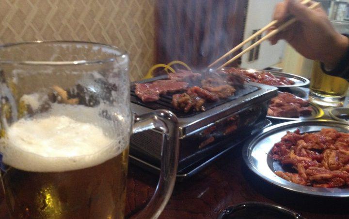 焼肉 and 生ビール in さんきらく