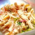 自家製野菜とハーブ鶏の酢漬け