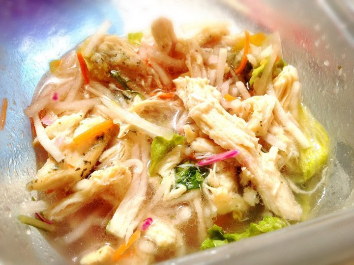 ハーブ鶏と野菜のマリネ風