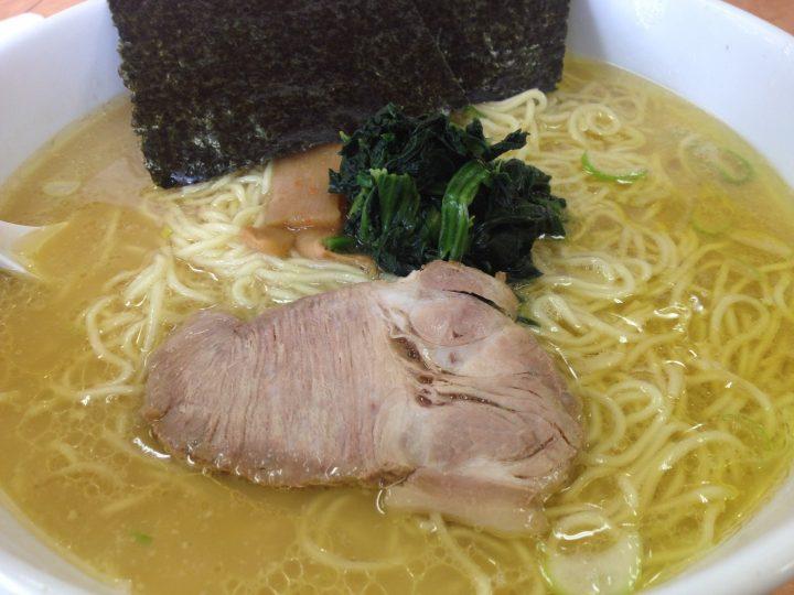 味濱家新潟大学前店の味濱家ラーメン(大盛り、細麺)