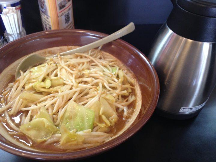 味噌ラーメンと割りスープ