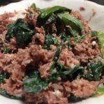 コンビーフと小松菜マヨネーズ和え2016-05-27 055