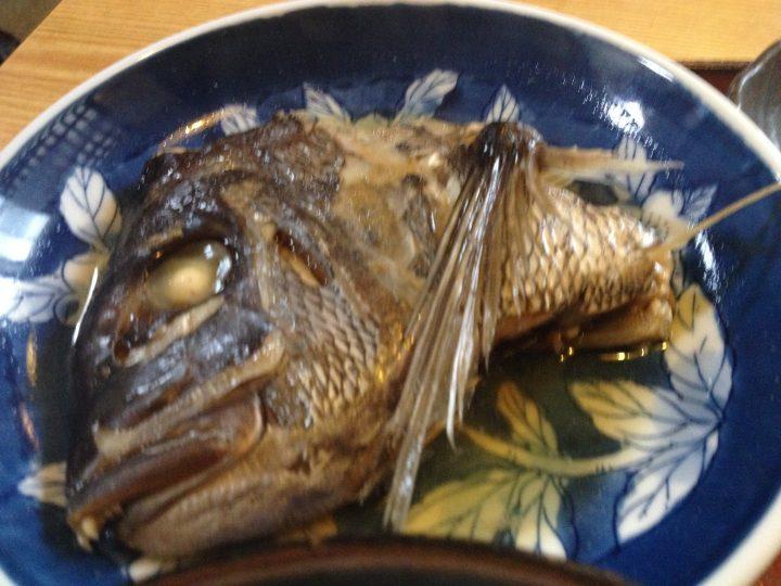 鯛のかぶと煮のアップ