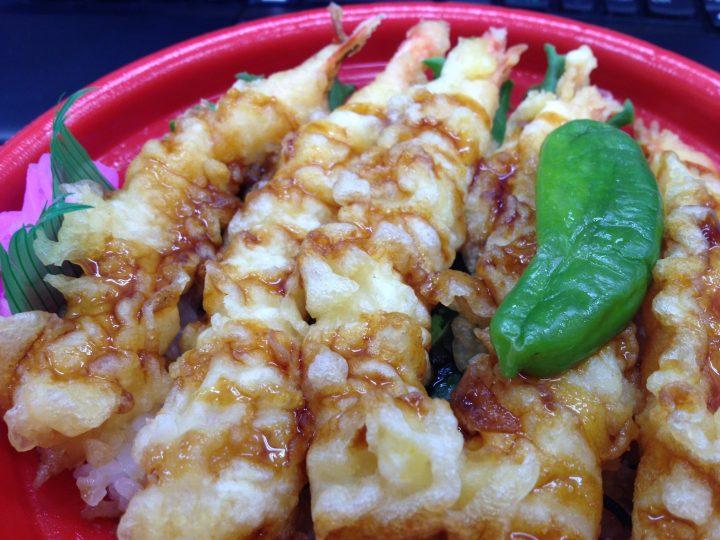 マルイ本成寺店の海老天丼弁当(2016年5月)