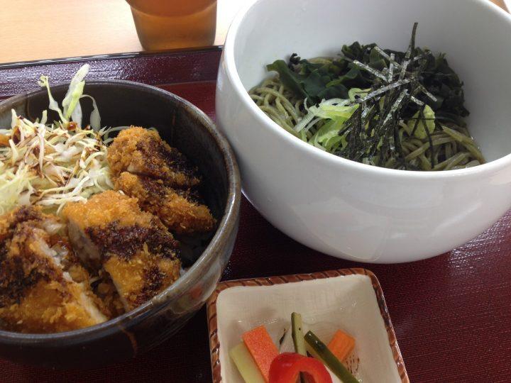がんこ茶家のわかめそばミニカツ丼セット(2016年5月)