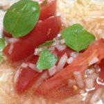トマトと玉ねぎと生バジルのマリネ2016-06-15