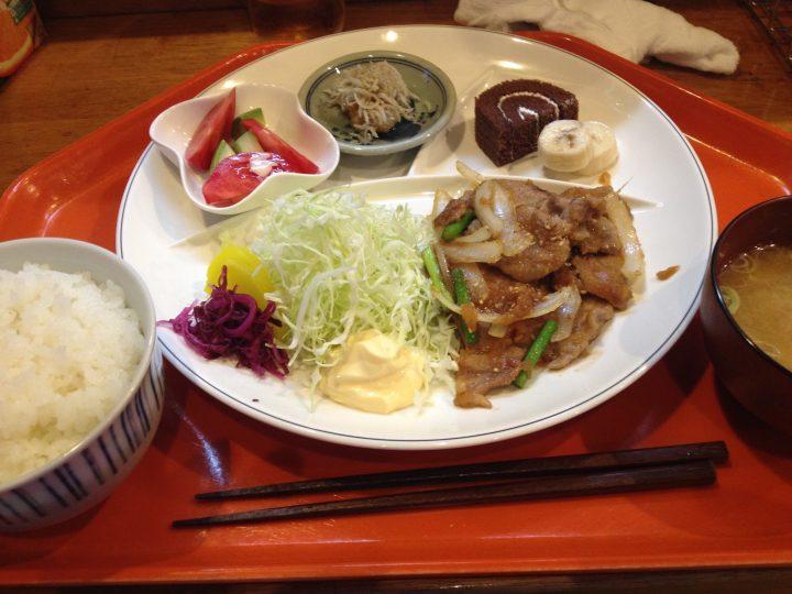 地朗介の週替わりランチ・生姜焼き定食
