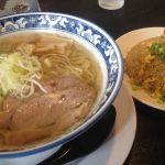 麺屋オグリ 琥珀620円+ミニ炒飯200円増し2016-07-27 021