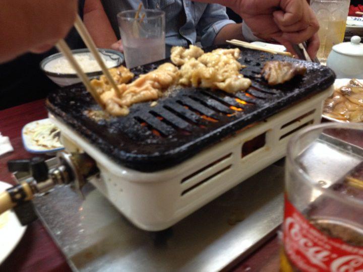 松燕での焼肉