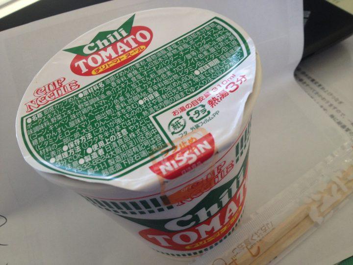 日清チリトマトヌードル・調理中