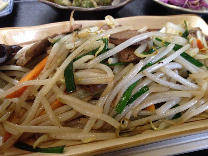 野菜炒めのアップ