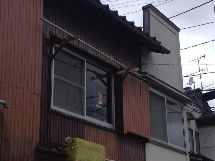 2階の窓のアップ