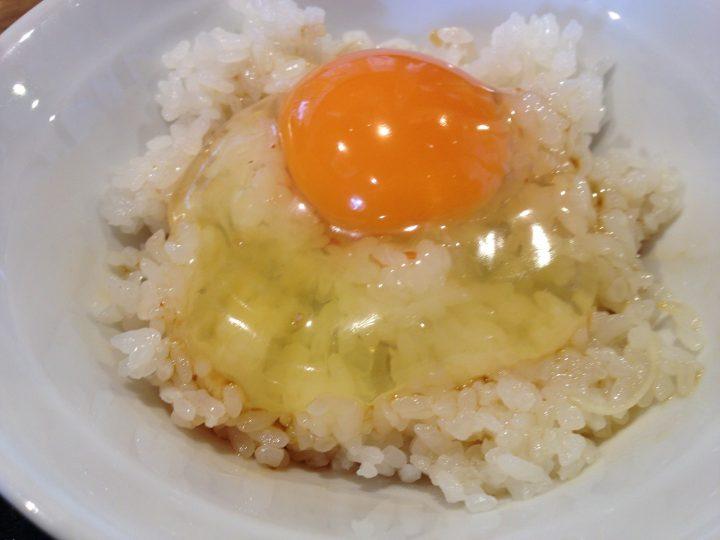 Aセットの卵かけご飯