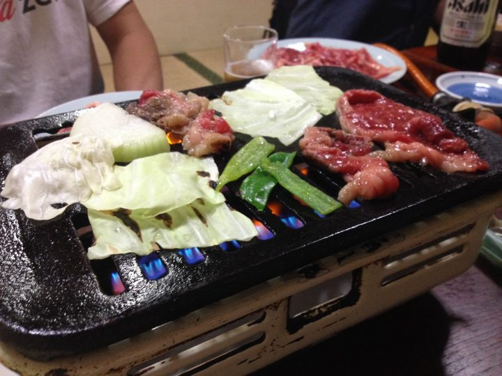 大衆食堂宮川での焼肉
