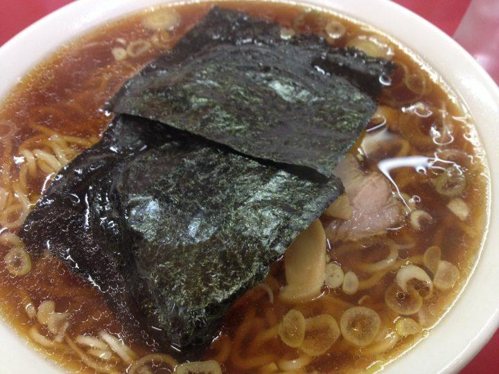笹舟栄店のラーメン(2017年3月)