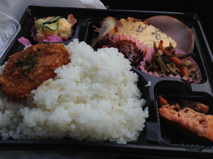 アメヤ精肉店の幕の内弁当(大盛り)・開封後