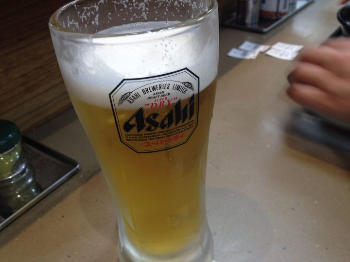 富士そば上野広小路店の生ビール