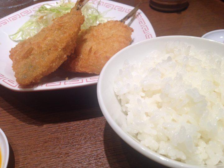 来来亭三条店のアジフライ定食