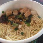日清 THE NOODLE TOKYO 播磨坂もりずみ 限定鶏醤油らぁ麺(作成後)