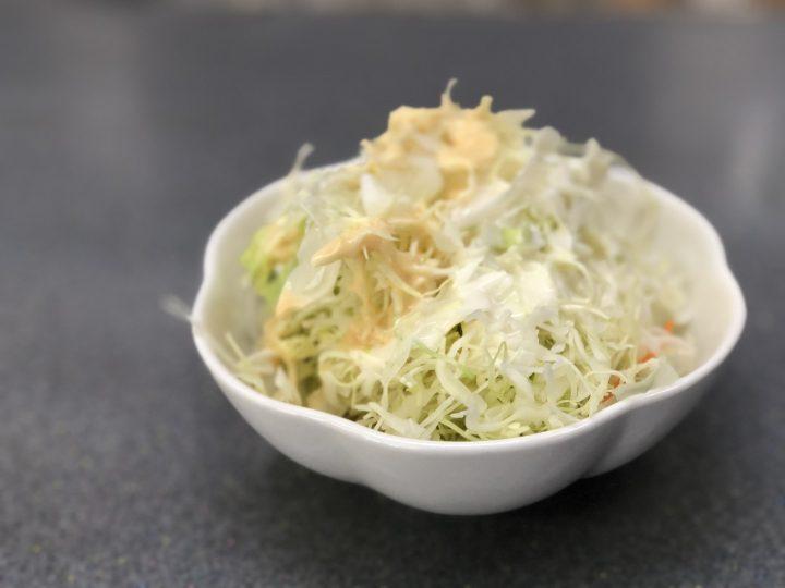 くるまや巻店の無料サラダ