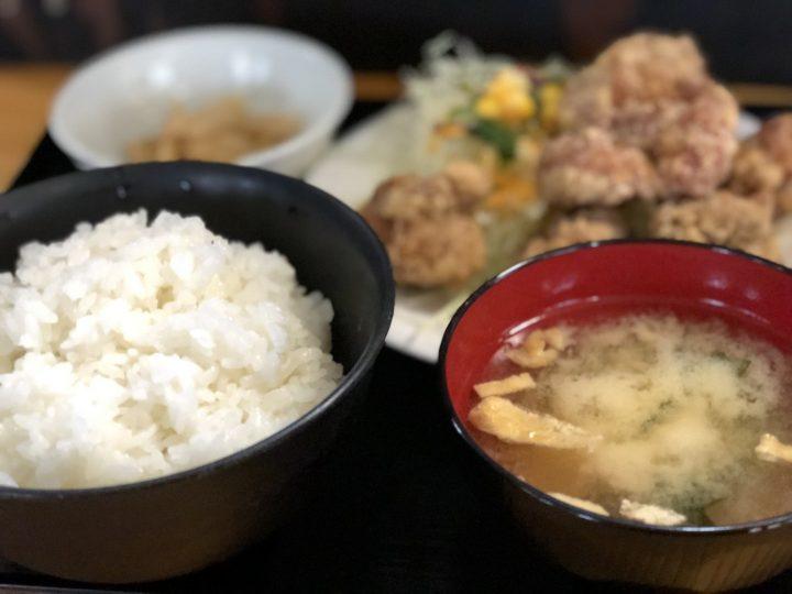 うめこまちの鶏塩竜田揚定食
