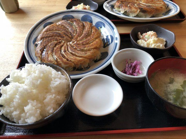はじめ食堂の手作り餃子定食・餃子12個(ライス大盛り)
