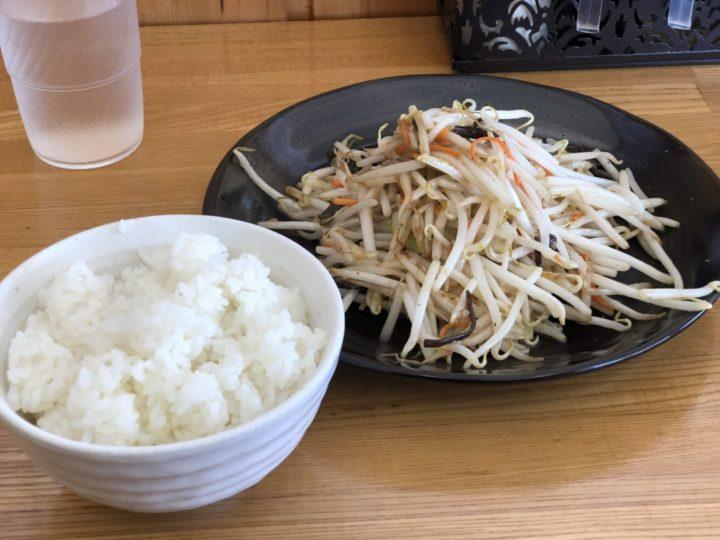 麺屋泰紋のスタミナもやし炒め&ライス(ラーメン注文時限定セット)