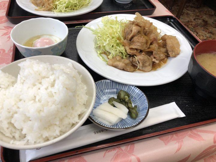 レストラン・ペイザンヌの日替り定食(焼肉定食)