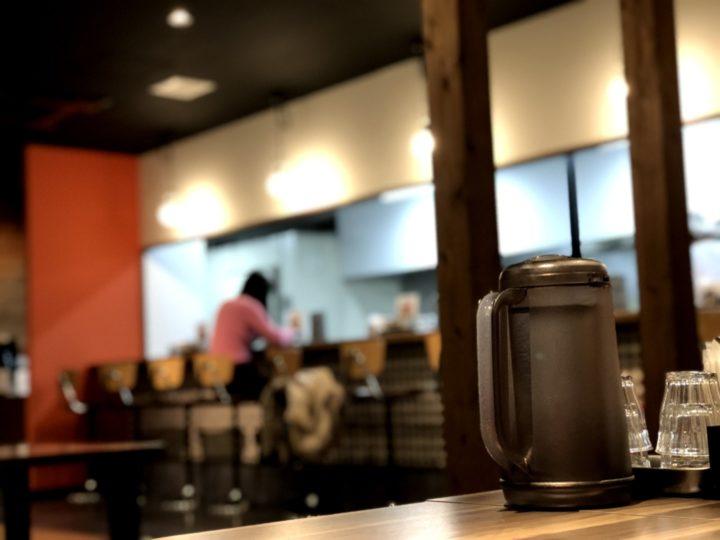 新潟市にあった中華そば市松の店内(2018年2月)