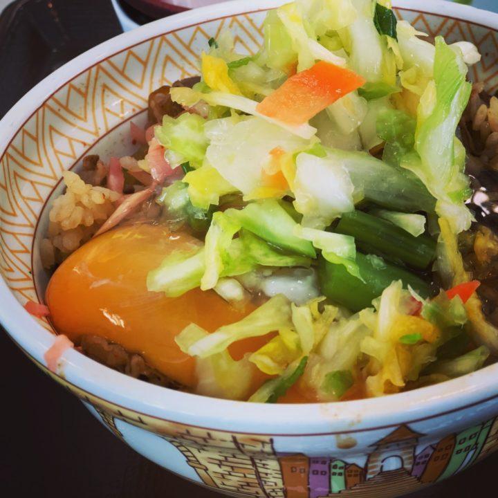 すき家の自作野菜牛丼
