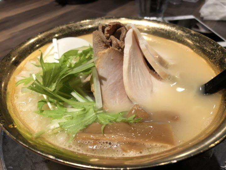 中華そば市松(新潟市)の鶏白湯・別アングル