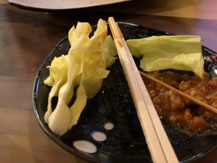 大衆酒場五郎神田西口店のキャベツ