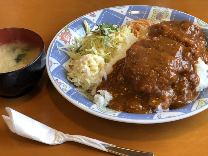 金子屋大島店の洋風カツ丼