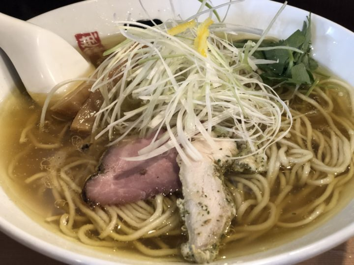 日の出製麺の淡麗鶏そば(塩)・アップ