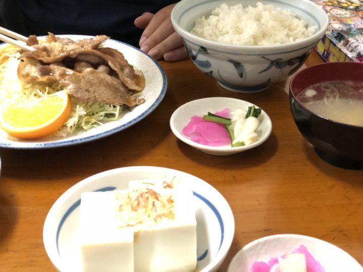花月食堂の焼肉定食(同行者の分)