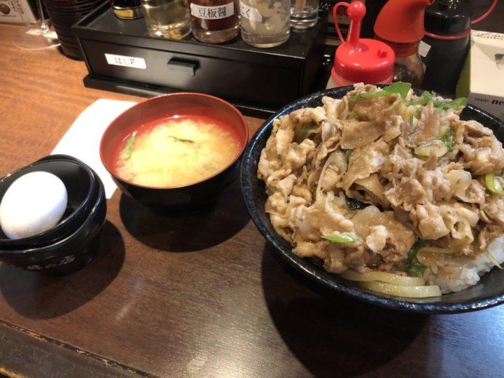 伝説のすた丼屋新潟駅南店のすた丼(無料肉増しプラス飯増し)