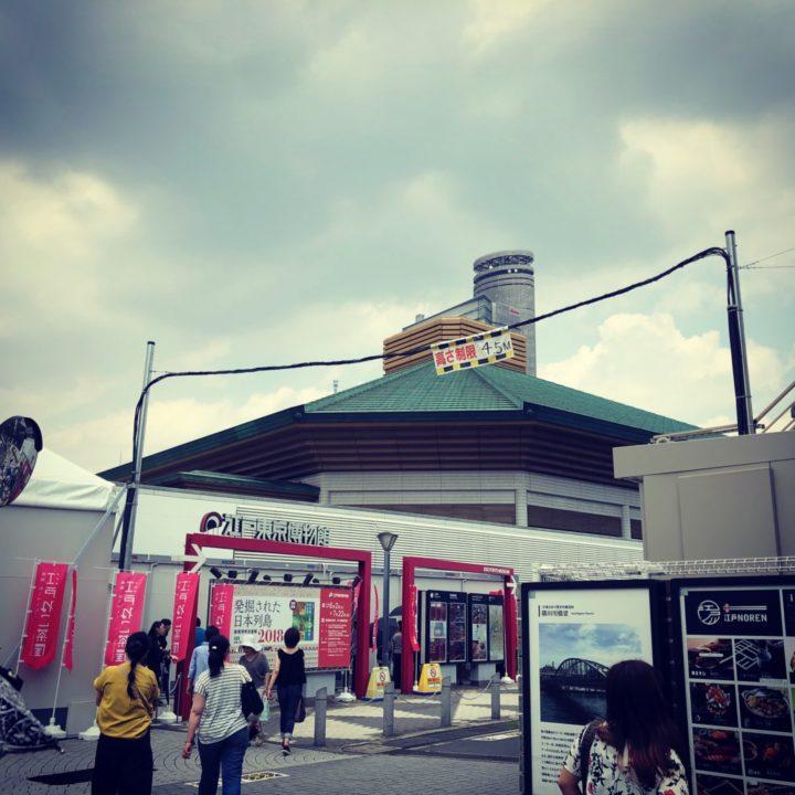 江戸東京博物館越しの両国国技館