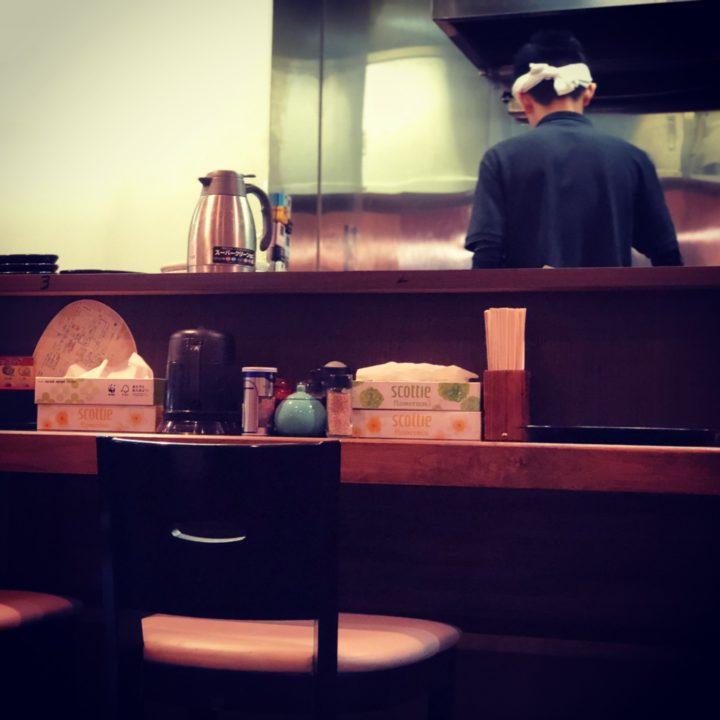 麺屋宋一のカウンター席