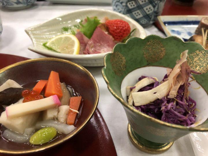 越乃しらさぎ新初呑み切り会2018の料理